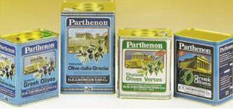 Parthenon Olives Packed in Tins