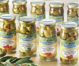 Parthenon Olives Packed in Jars and Trays