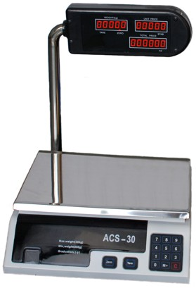 Αγορά Ηλεκτρονική ζυγαριά με υπολογιστή και ορθοστάτη.