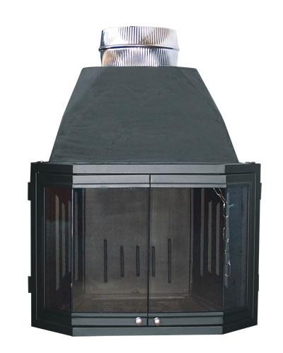 Αγορά Ενεργειακά τζάκια αερόθερμα T60 - Ίσια με 2 πορτάκια
