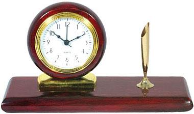 Αγορά Ξύλινο επιτραπέζιο ρολόι με πενοστάτη.
