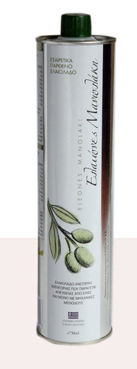 Αγορά Έξτρα παρθένο Ελαιόλαδο σε συσκευασίες των 750ml - 500ml - 250ml. Μεταλλικό μπουκάλι