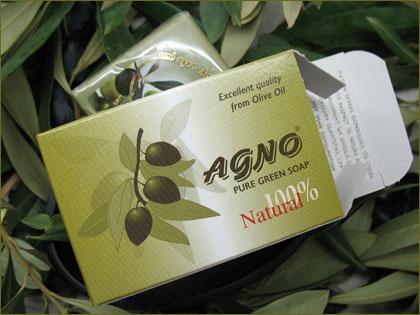 """Αγορά Σαπούνια """"ΑΓΝΟ"""" από ελαιόλαδο και πράσινα από πυρηνέλαιο"""