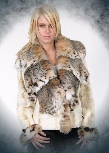 Αγορά Jacket mink scraps - collor lynx №722