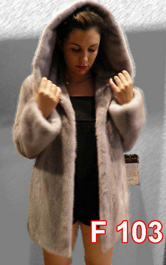 Αγορά Mink jacket with hood and belt