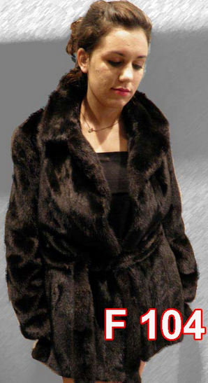 Αγορά Mink jacket with English collar and belt.