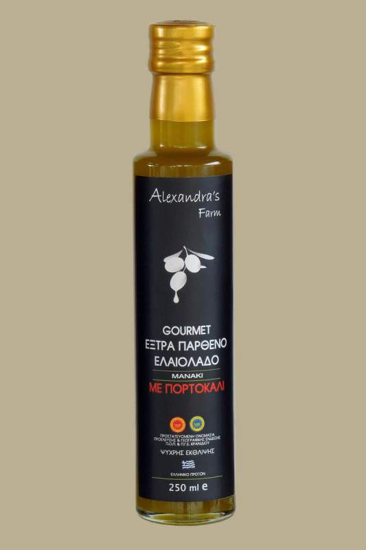 Αγορά Έξτρα Παρθένο Ελαιόλαδο Με Πορτοκάλι Γυάλινη φυάλη 250 ml