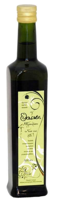 """Αγορά Extra Virgin Olive Oil Glass """"Dorica"""" container of 500m"""