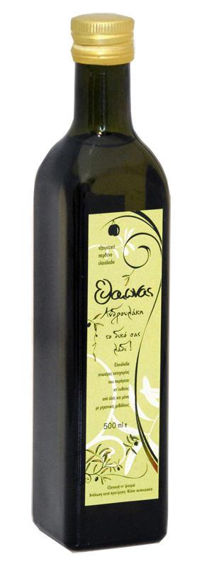 """Αγορά Extra Virgin Olive Oil Glass """"Dorica"""" container of 500ml"""