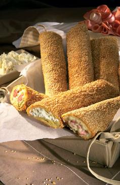 Αγορά Φλογέρα φέτα, φλογέρα τυρί - ζαμπόν, φλογέρα διπλό λουκάνικο - τυρί σουσάμι