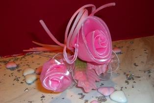 Αγορά Μπομπονιέρες γάμου τριαντάφυλλο ροζ