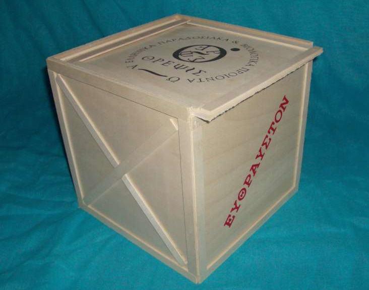 Αγορά Ξύλινες συσκευασίες για ποτά και δώρα