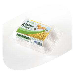 Αγορά 6 Φρέσκα Αυγά Μεσαία Πλαστική Συσκευασία
