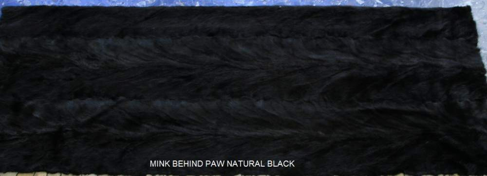 Αγορά Mink Behind Paw Black Fur Plate