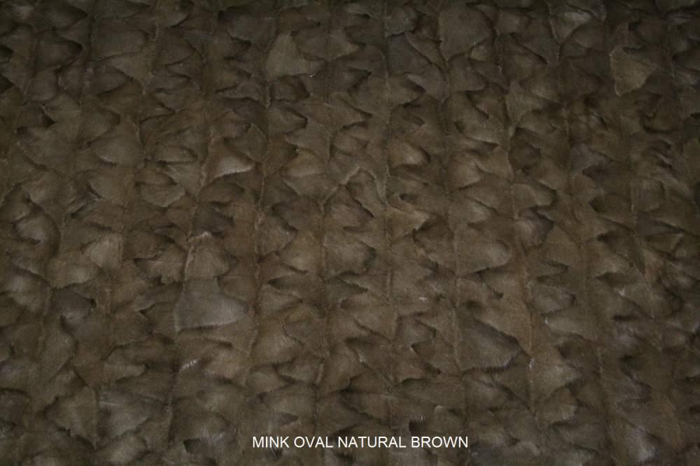 Αγορά Mink oval demi baff fur plate