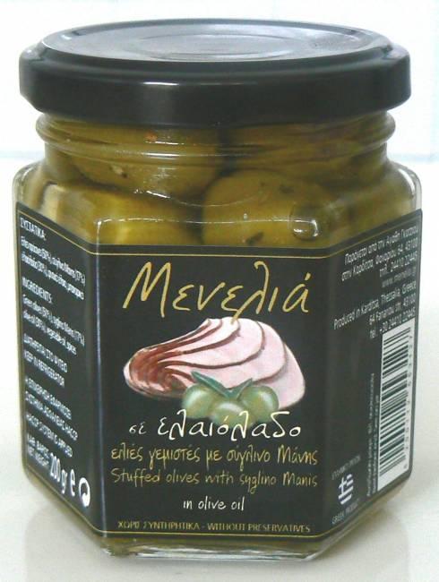 Αγορά Ελιές γεμιστές με σύγλινο Μάνης σε λάδι μυρωδικά και μπαχαρικά