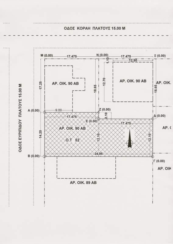 Αγορά Οικοπεδο 450,00 Μ2 κεντρικο με οικοδομικη αδεια χωρις ΦΠΑ
