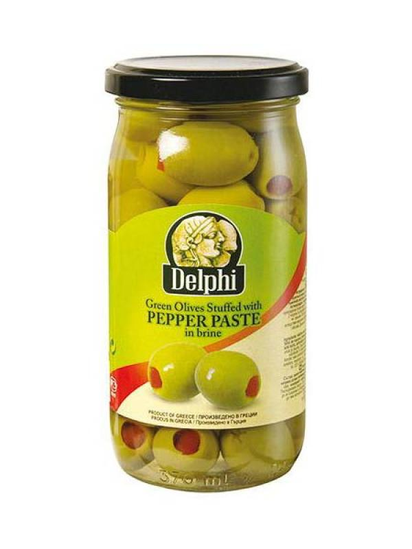 Αγορά Delphi Green olives st. pepper paste 370ml jar