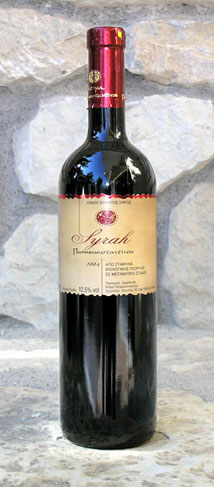 """Αγορά Κρασί ερυθρο """"SYRAH """" απο σταφυλια βιολογικης καλλιεργειας"""