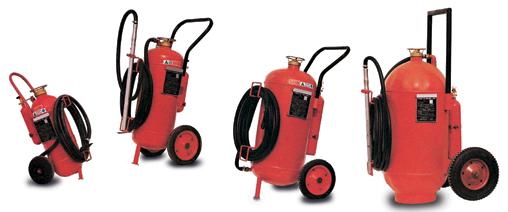 Αγορά Πυροσβεστήρες Σκόνης, Αφρού, Νερού Τροχήλατοι