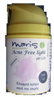 Αγορά Καλλυντική ενυδατική κρέμα προσώπου για νεανικές επιδερμίδες Acne Free light SPF 30/40