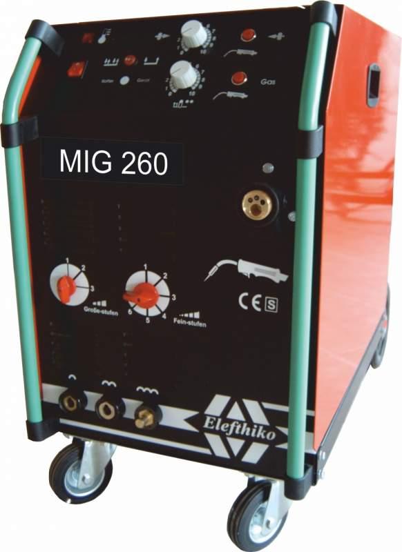 Αγορά MIG Επαγγελματική Αερόψυκτη Ηλεκτροκόλληση Ελαφρύ Τύπου 260 Α (PS4) EG54260C2/C4, με 5 χρόνια εγγύηση