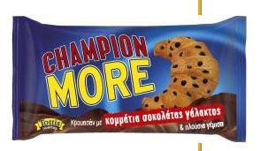 Αγορά Champion με γέμιση κρέμα κακάο 70g e και με γέμιση βερίκοκο 70g e