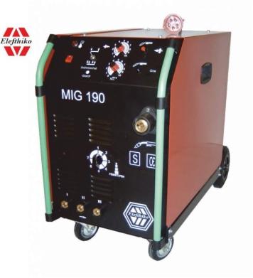 Αγορά MIG Ημιεπαγγελματική Ηλεκτροκόλληση 190 Α (PS3) EG54190, με 5 χρόνια εγγύηση
