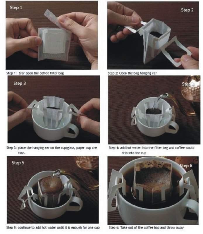 Αγορά Organic ground coffee in one portion size with a single use filter
