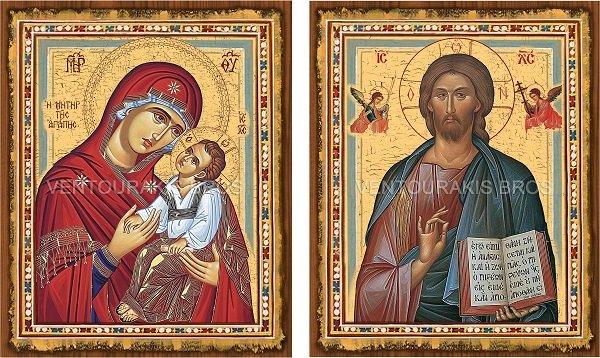 Αγορά Βυζαντινές εικόνες σε χοντρό ξύλο