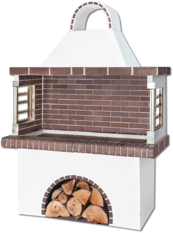 Αγορά Ψησταριές – Barbeque με καφέ πυρότουβλο, CODE 0102 NEW SXISTOLITHOS.