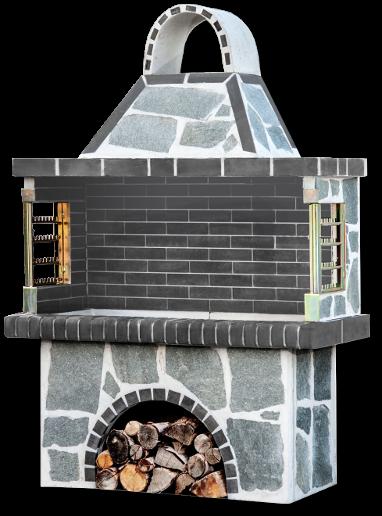 Αγορά Ψησταριά, bbq , Garden Barbecue ,Gartengrill με πέτρα καβάλας, με μαύρο – γκρι πυρότουβλο, CODE NEW 0112 SXISTOLITHOS