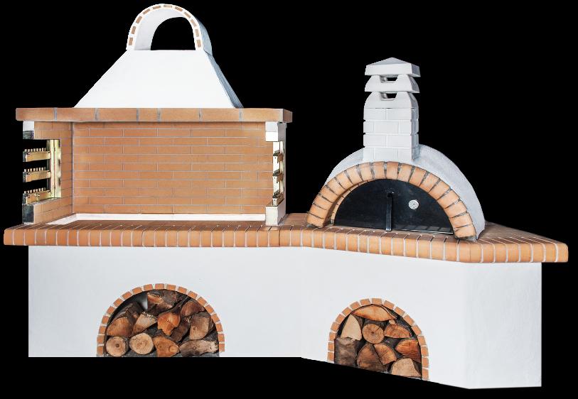 Αγορά Ψησταριές κήπου – Barbecue garden – барбекю με παραδοσιακό φούρνο με ξύλα και κίτρινο πυρότουβλο, CODE NEW 0210 SXISTOLITHOS