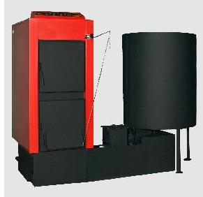 Αγορά O λέβητας Kombi kn-sf, αποτελείται από τον λέβητα Kombi kn με τον μηχανισμό αυτόματης τροφοδοσίας και καύσης βιομάζας sf.