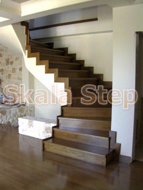 Αγορά Επένδυση σκάλας μπετόν με ξύλο