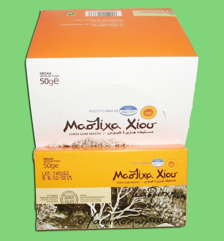 Αγορά Φυσική Μαστίχα Χίου Chios Natural Mastiha (Gum Mastic) Medium Tears 50gr