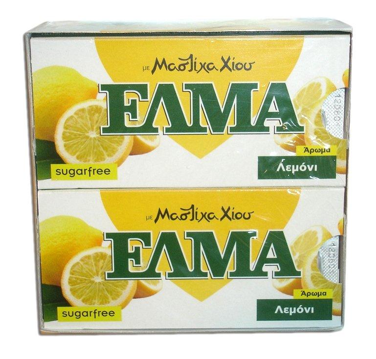 Αγορά Τσίκλα Χίου ΕΛΜΑ με άρωμα Λεμόνι (ELMA sugar free chewing gum with mastic and lemon flavor)