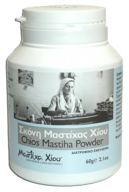 Αγορά Σκόνη Μαστίχας Χίου με Ινουλίνη Chios Mastiha (Gum Mastic) Powder Nutritional Supplement 60gr