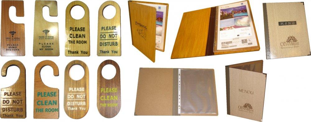 Αγορά ΞΕΝΟΔΟΧΕΙΟ ξύλινες πινακίδες & ΞΥΛΙΝΑ μενού του εστιατορίου