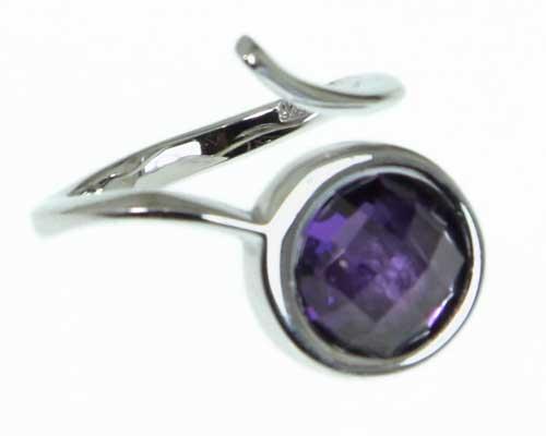 Αγορά Ασημενιο δαχτυλιδι με μωβ αμέθυστο