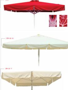 Αγορά Ομπρέλες από αλουμίνιο με ύφασμα από PVC ή ακρυλικό σε διάφορες διαστάσεις