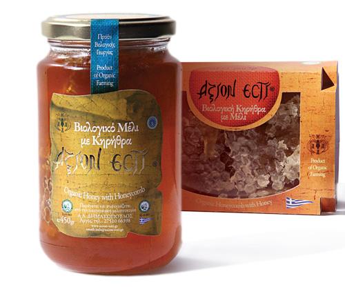 Αγορά Βιολογικό Μέλι με Κηρήθρα