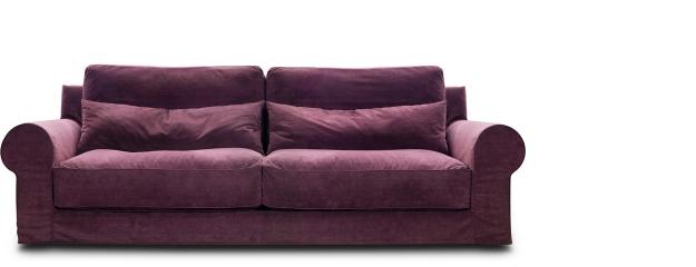 Αγορά Αναπαυτικός διθέσιος καναπές με έντονες καμπύλες