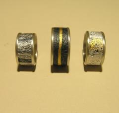 Τρια μοντελα δακτυλιδιων με την τεχνικη της Gill Gallaway.