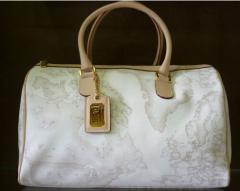 Τσάντα βαλιτσάκι χρώμα λευκό Alviero Martini