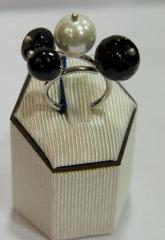 Δαχτυλίδι ασημένιο 925 με πέρλα και όνυχα της