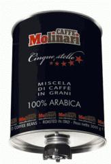 Καφές Espresso  Molinari σε κόκκο 3kg 100% ARABICA