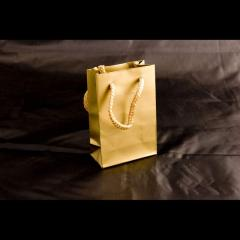 Τσάντα με ματ πλαστικοποίηση και κορδόνι 8Χ12