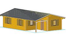 Σπίτι Tzia 1000 x 650cm με πάχος ξύλου 60mm