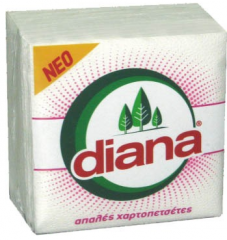Χαρτοπετσέτα DIANA 60Φ 30Χ30 λευκή